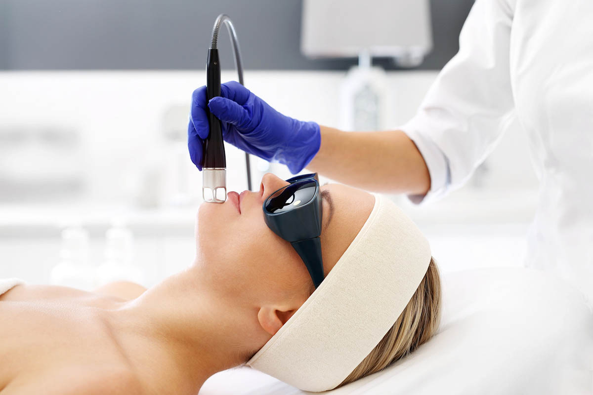 Laser treatment for the face