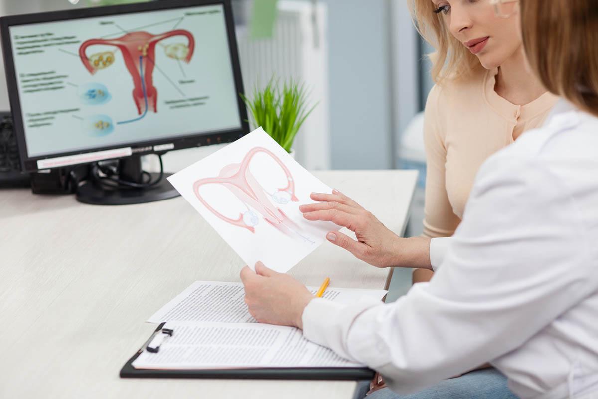 Woman consults with her gynecologis